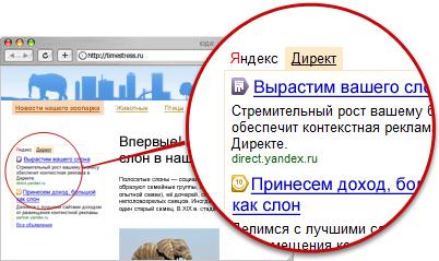 Контекстная рекламы на своем сайте