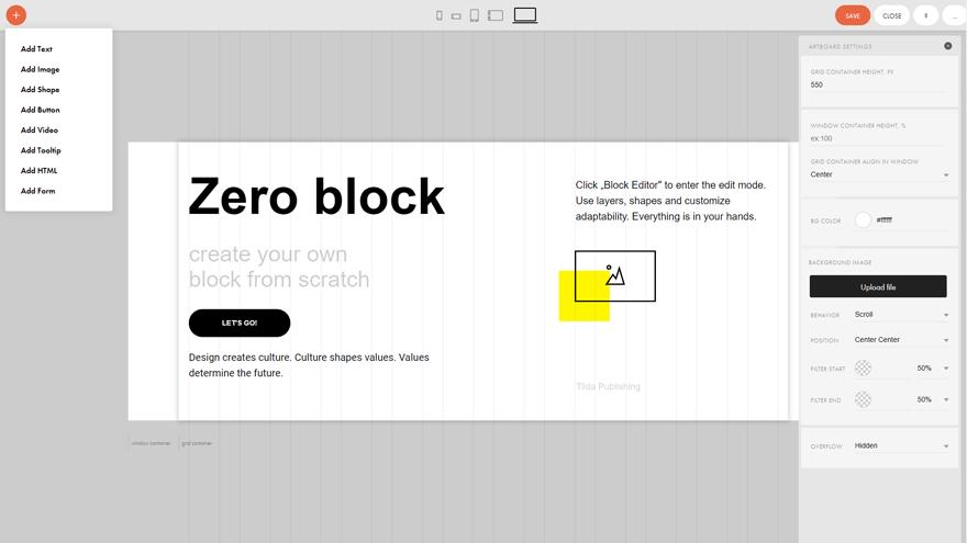 Zero block